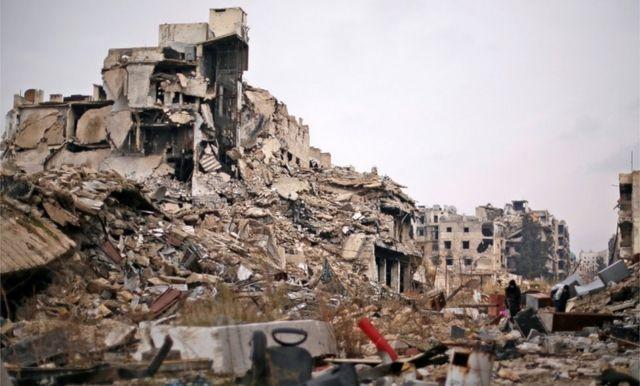 Aleppo ya zama tamkar kufai