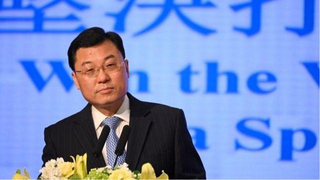 中国外交部副部长谢峰在天津会谈期间措辞强硬。
