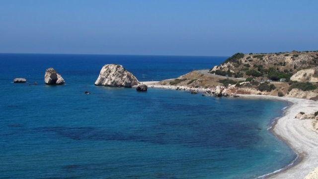 La Roca de Afrodita en Pafos, Chipre