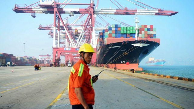 Çin'de bir liman