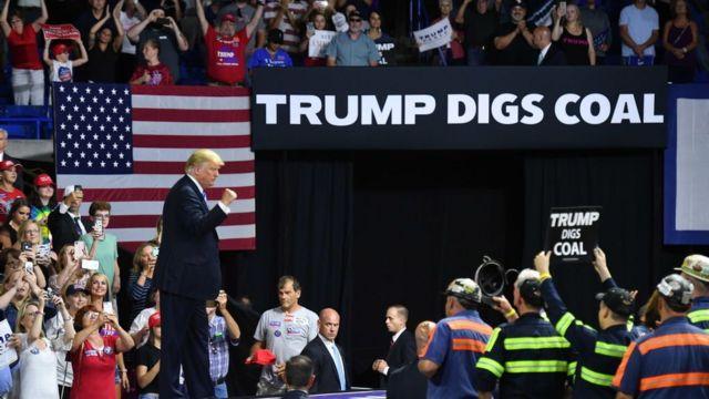 Trump en una actividad de campaña