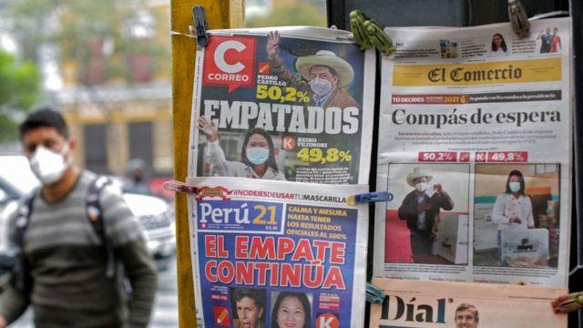 La votación entre Castillo y Fujimori ha estado muy ajustada