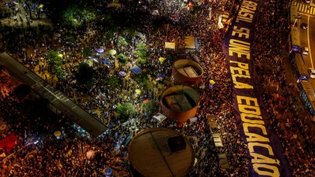 Protesto em SP em 30 de maio