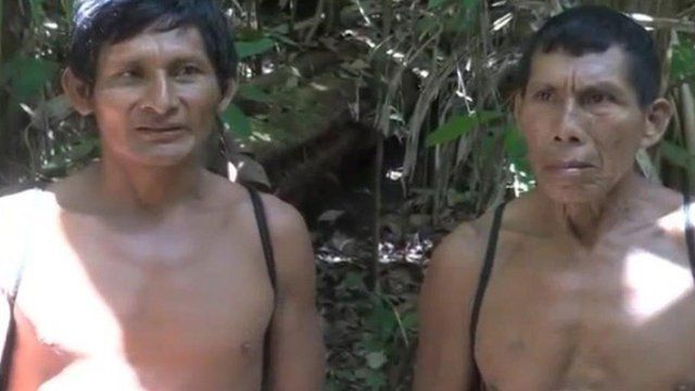 Members of the Wapichan community in the forest