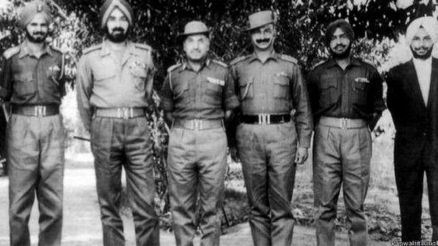 Gen Harbaksh Singh invited Lieut. Kanwaljeet Singh (Right)