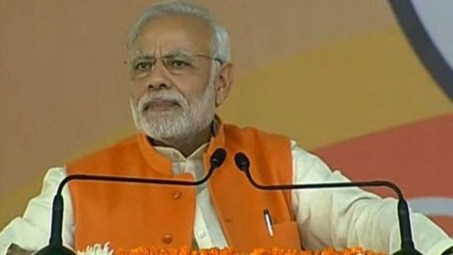 भारत के प्रधानमंत्री नरेन्द्र मोदी