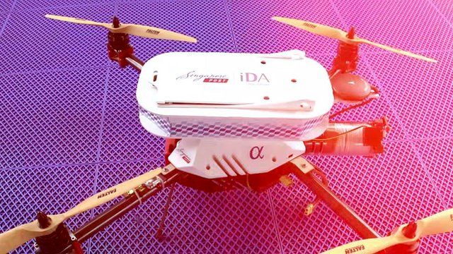 Singapore Post drone