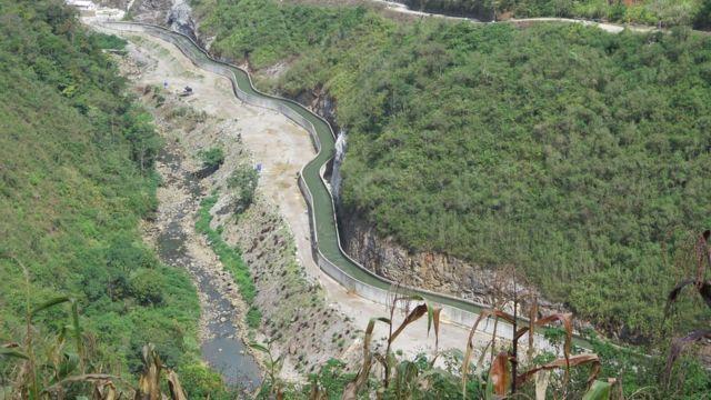 El río Cahabón en Guatemala