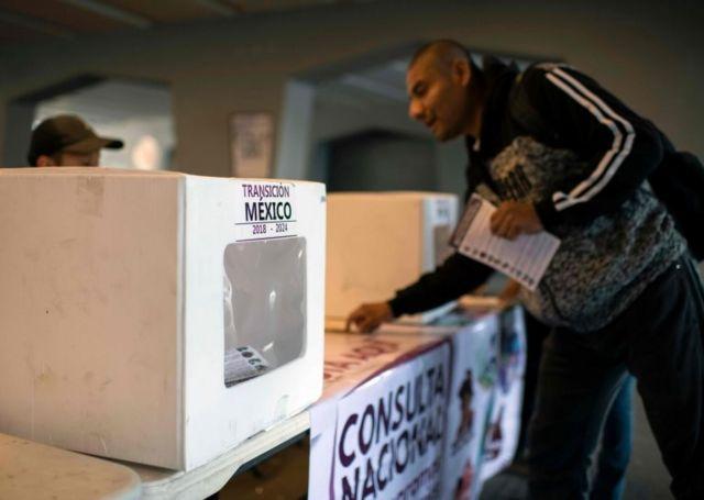 Personas votando en la consulta