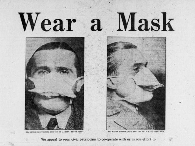 ၁၉၁၈ တုပ်ကွေးကာလ အမေရိကန်မှာ နှာခေါင်းစည်း တပ်ကြဖို့ လှုံ့ဆော်မှု