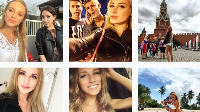 Screenshot showing Anna's Instagram pictures