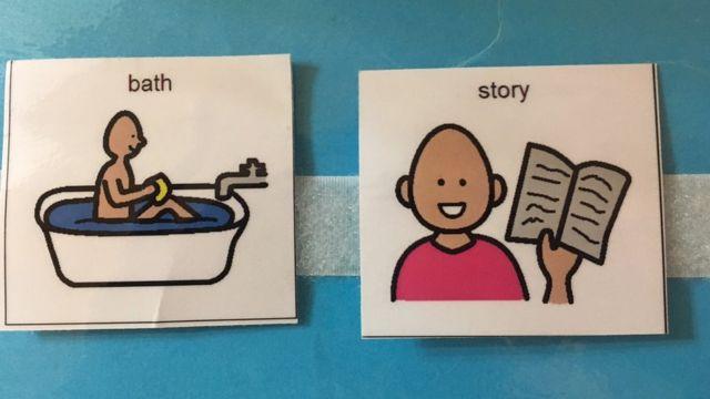 Картинки для аутистов: ванная и книга