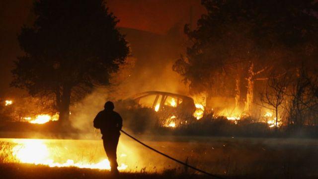 Пожежа на Корсиці