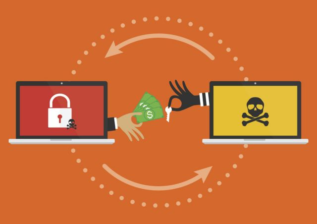 Graphic showing a cyber hijacking attack