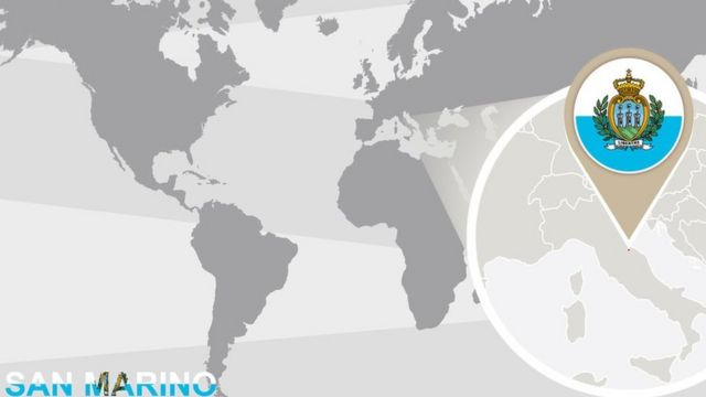 Ubicación geográfica de San Marino.