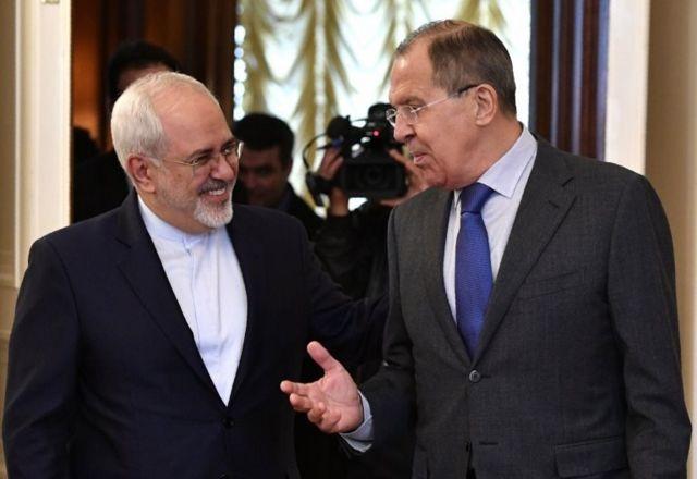 سرگئی لاوروف و جواد ظریف، وزرای خارجه روسیه و ایران