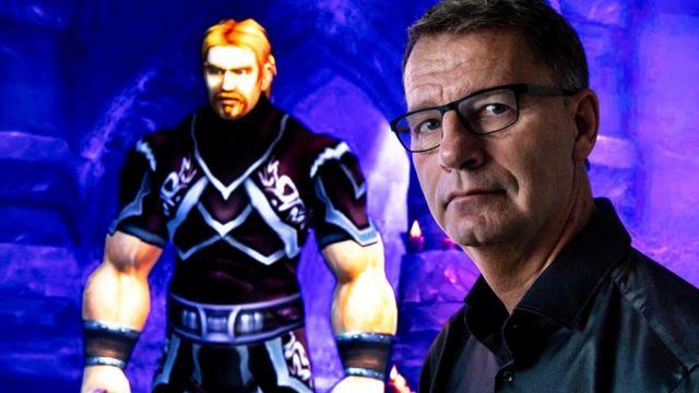 Robert Steen y el personaje de su hijo Mats, Ibelin, en World of Warcraft.