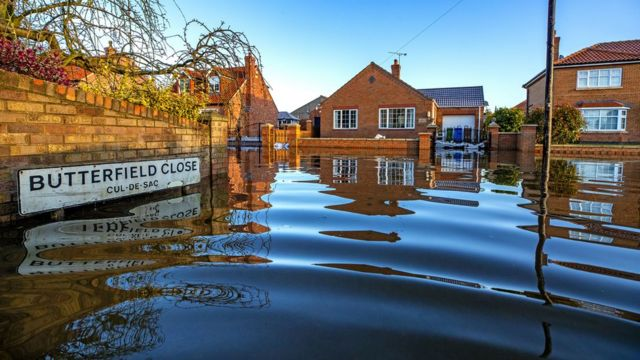 Floodwaters in East Cowick