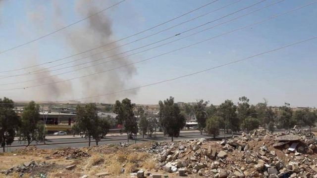 لحظه برخورد موشکهای سپاه پاسداران انقلاب اسلامی به مواضع حزب دمکرات کردستان در خاک عراق