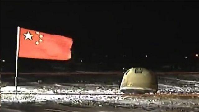 嫦娥五號返回器著陸點現場