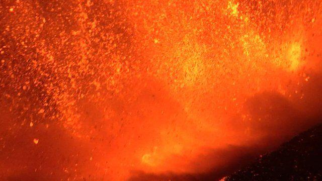 エトナ火山噴火