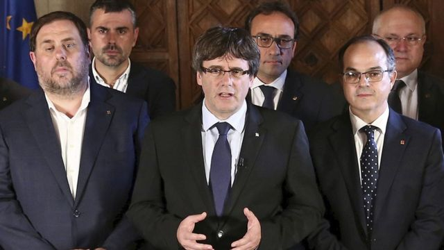 Los líderes del gobierno catalán.