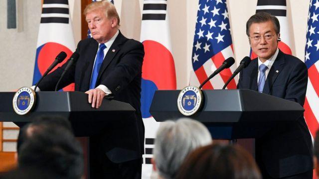 """زيارة ترامب لكوريا الجنوبية """"أكثر محطات جولته رمزية"""""""