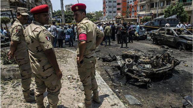 Scene of bomb attack in Cairo (file photo)