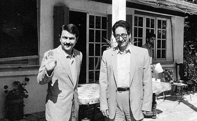مسعود رجوی (چپ) در کنار بنی صدر (راست)