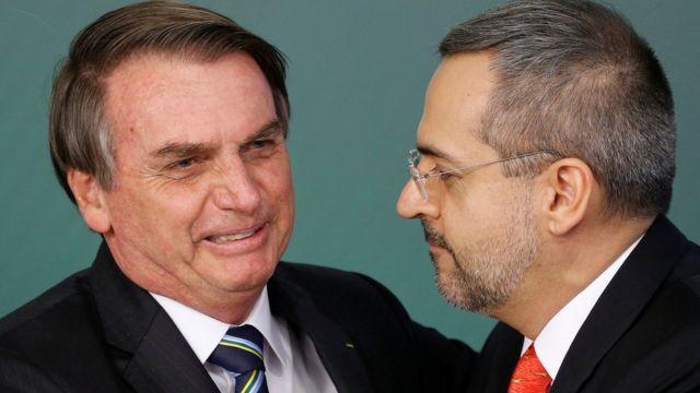 Bolsonaro e novo ministro da Educação