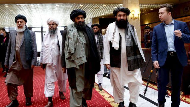 """Делегация движения """"Талибан"""" на переговорах в Москве"""