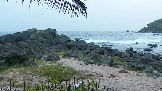 Cove in Ghana where Arthur Simpson-Kent was found