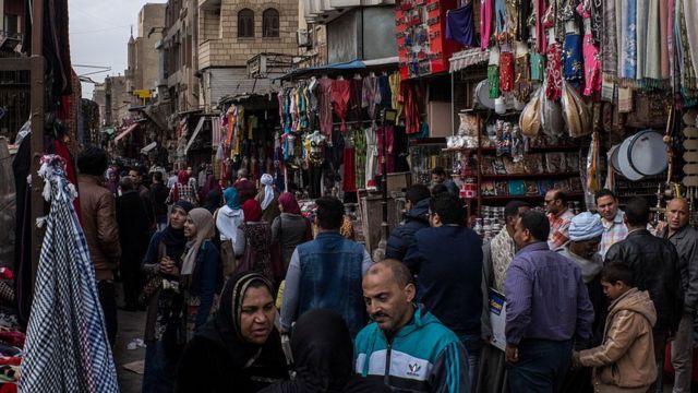 سوق في مصر.