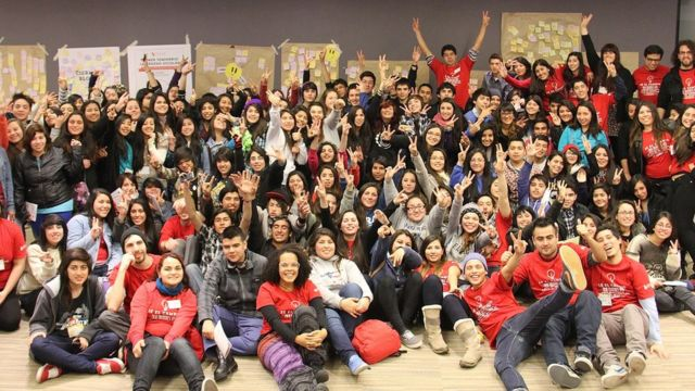 Voluntarios de Panal en Chile. Foto: Cortesía Panal