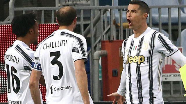 Cristiano Ronaldo celebrating