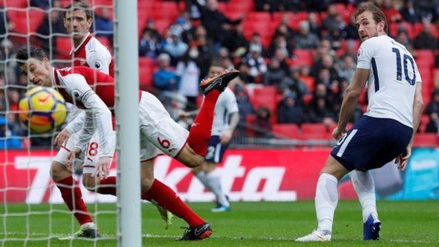 Harry Kane scores Tottenham's goal in their 1-0 win