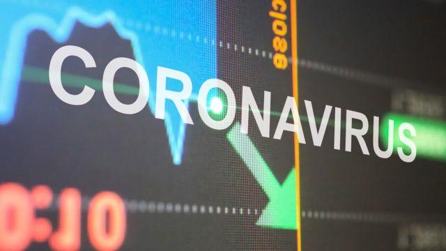 Ilustração de coronavírus e a economia