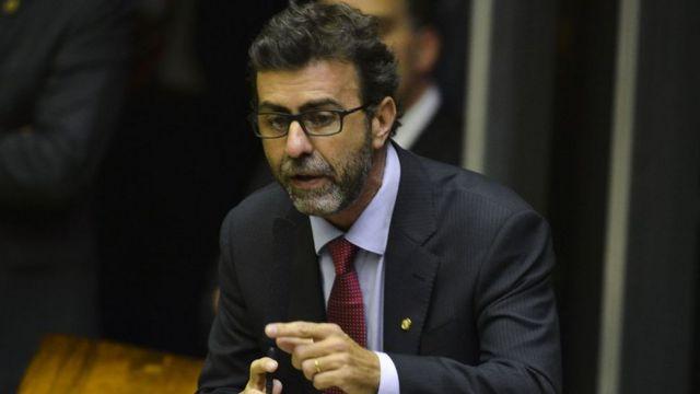Deputado Marcelo Freixo durante sessão de votação para presidente da Câmara dos Deputados.