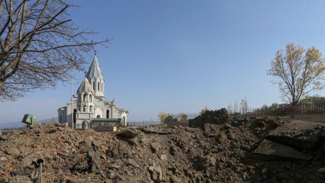 The Ghazanchetsots (Holy Saviour) Cathedral in Shusha, Nagorno Karabakh