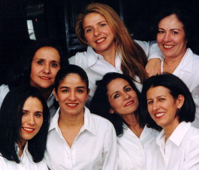 The J Sisters - L-R Jonice, Judseia, Jane, Joyce, Jussara, Jocely, Juracy