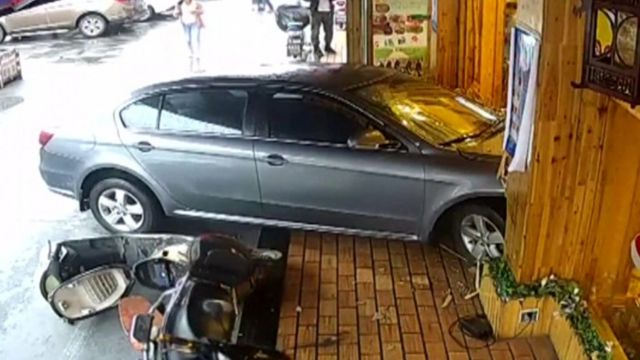 Shanghai restaurant car crash