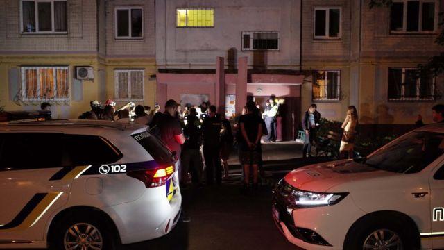 Поліція біля будинку Бабченка
