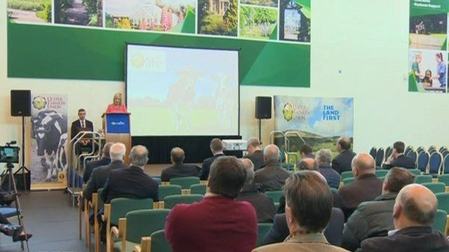 Farmers met at the Ulster Farmers' Union Dairy Stakeholder Summit
