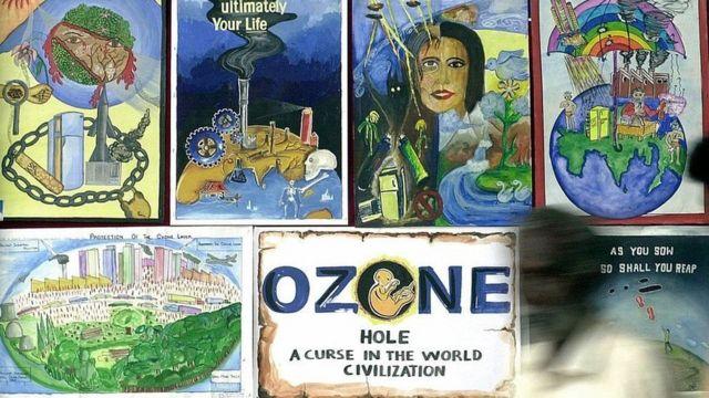 Dibujos a la capa de ozono