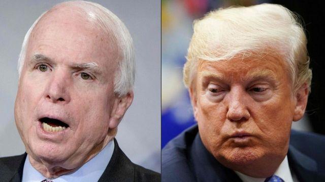 Trump na McCain
