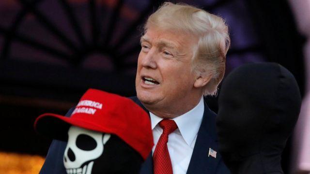 دونالد ترامپ روز سه شنبه در کاخ سفید در مراسم جشن هالووین