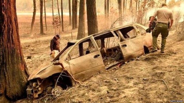 कार में आग