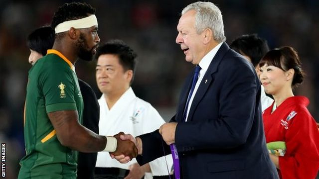 Siya Kolisi and Bill Beaumont