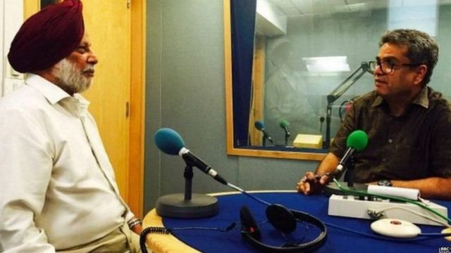 Brig. Kanwaljeet Singh in BBC Studio with Rehan Fazal