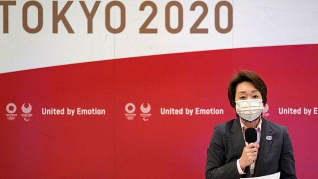 Seiko Hashimoto en rueda de prensa el pasado 26 de abril.